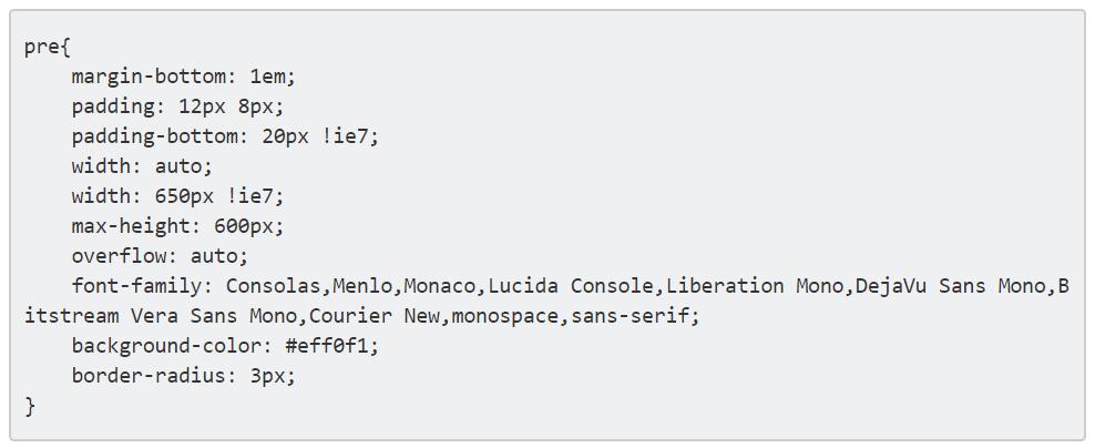 Code Box nur mit CSS